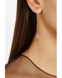 Noor Fares - Metallic Merkaba Double Dress 18karat Rose Gold Diamond Earrings - Lyst