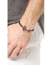 Eddie Borgo - Black Ship Weight Leather Bracelet for Men - Lyst