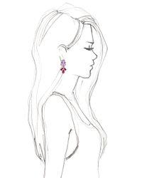 EK Thongprasert - Purple Nemesia Strumosa Earrings - Lyst