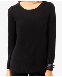 Forever 21 - Black Chunky Waffle Knit Sweater - Lyst
