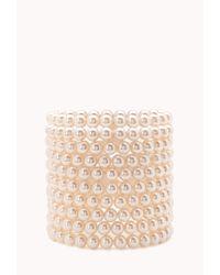 Forever 21 | Pink Opulent Faux Pearl Bracelet Set | Lyst