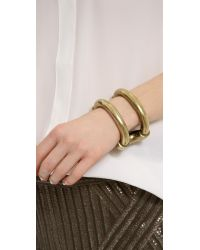 Giles & Brother - Metallic Huge Cortina Cuff Bracelet - Lyst