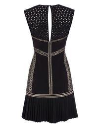 Karen Millen - Black Geometric Chainmail Dress - Lyst