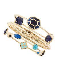 Kendra Scott - Metallic Beverly Bracelet Set Blue - Lyst
