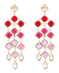 Kendra Scott - Pink Gloria Chandelier Earrings - Lyst