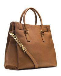 MICHAEL Michael Kors | Brown Hamilton Large Tote, Luggage | Lyst