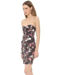 Nicholas - Multicolor Romantic Floral Strapless Dress - Lyst
