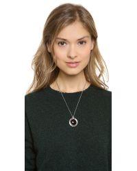 Pamela Love - Black Dial Pendant Necklace - Lyst
