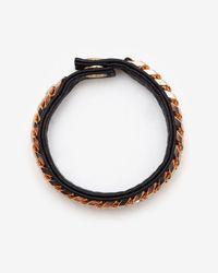 Vita Fede - Monaco Single Wrap Leatherchain Bracelet Black - Lyst