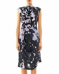 Vivienne Westwood Anglomania | Black Prophecy Cracking Print Dress | Lyst