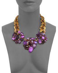 Aerin Erickson Beamon   Purple Swarovski Crystal Cluster Necklace   Lyst