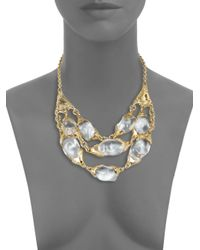 Alexis Bittar - Metallic Lucite Crystal Multirow Bib Necklace for Men - Lyst