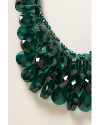 Anthropologie - Green Gem Flutter Bib Necklace - Lyst