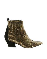 ASOS | Black Won Hundred Mercury Gold Ankle Boots | Lyst