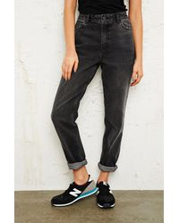 BDG | Acid Washed Black Mom Jeans | Lyst