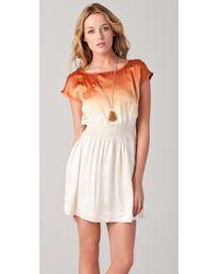 Club Monaco - Orange Lainey Dress - Lyst