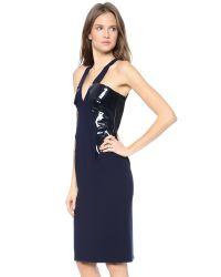 Cushnie et Ochs - Blue Sleeveless Dress - Lyst