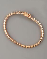 Eddie Borgo | Metallic Pavé Small Pyramid Tennis Bracelet | Lyst