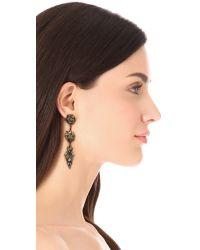 Erickson Beamon - Metallic Heart Of Gold Drop Earrings - Lyst