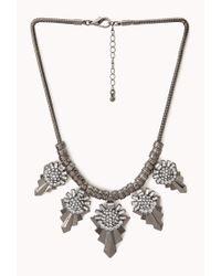 Forever 21 - Gray World Traveler Bib Necklace - Lyst