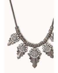 Forever 21 - Gray World Traveler Bib Necklace - Lyst