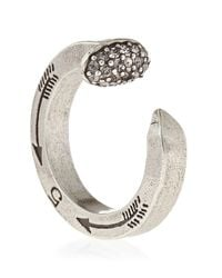 Giles & Brother - Metallic Pave Railroad Spike Ring - Lyst