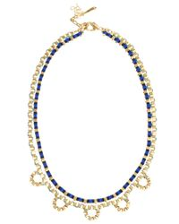 John & Pearl | Metallic Two Row Loop Necklace | Lyst