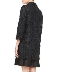 kate spade new york - Black Franny 34sleeve Lace Coat - Lyst