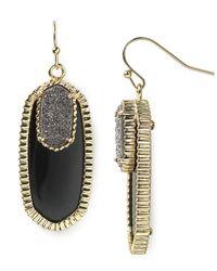 Kendra Scott - Black Dayton Earrings - Lyst