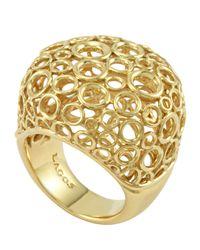 Lagos - Metallic 18k Gold Circle Filigree Ring - Lyst