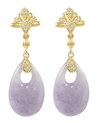 Lagos | Purple 18k Diamond  Lavender Jade Earrings | Lyst