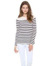 Madewell - Black Striped Ingrid Pullover - Lyst