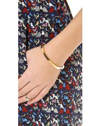 Michael Kors - Metallic Thin Hinged Bangle Bracelet Gold - Lyst