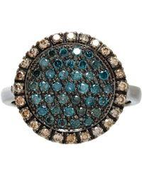 Roberto Marroni | Pave Diamond White Gold Threeface Ring | Lyst