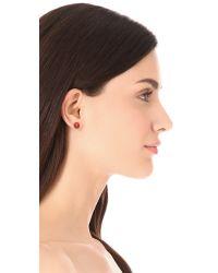 Tory Burch - Colored Evie Stud Earrings - Lyst