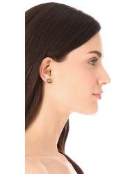 Tory Burch - Metallic Winslow Logo Post Earrings - Lyst