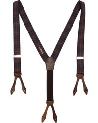 Alexander Olch | Brown Plaid Suspenders for Men | Lyst