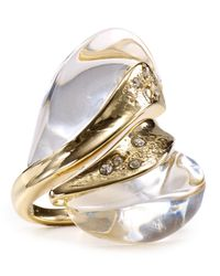 Alexis Bittar | Metallic Lucite Pebble Ring | Lyst