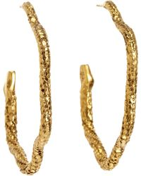 Aurelie Bidermann | Metallic Gold Tao Snake Hoop Earrings | Lyst