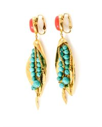Aurelie Bidermann - Metallic Monteroso Gold-Plated Leaves Earrings - Lyst