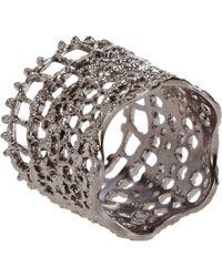 Aurelie Bidermann   Metallic Silver-plated Vintage Lace Ring   Lyst