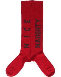 Barneys New York - Red Naughty and Nice Socks for Men - Lyst
