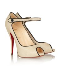 Christian Louboutin - Natural Melita 2 120 Canvas Pumps - Lyst