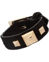 Fallon | Metallic Pyramid Strap Bracelet | Lyst