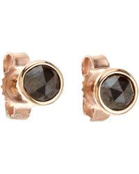 Finn - Pink Black Diamond Stud Earrings - Lyst