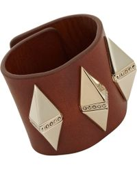 Givenchy - Brown Crystal Pyramid Stud Cuff for Men - Lyst