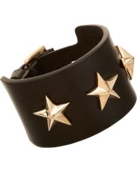 Givenchy | Brown Triple Star Small Leather Cuff Bracelet for Men | Lyst