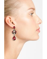 Givenchy | Red Drop Earrings | Lyst