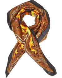 Givenchy | Orange Flame Paisley Print Square Scarf for Men | Lyst
