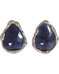 Lucifer Vir Honestus - Pink Blue Sapphire Stud Earrings - Lyst